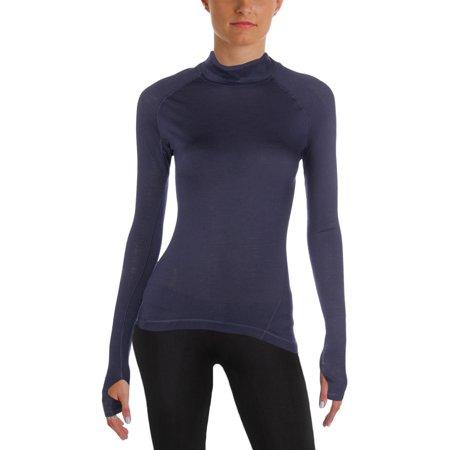 Adidas Womens Wool Mock Neck T-Shirt