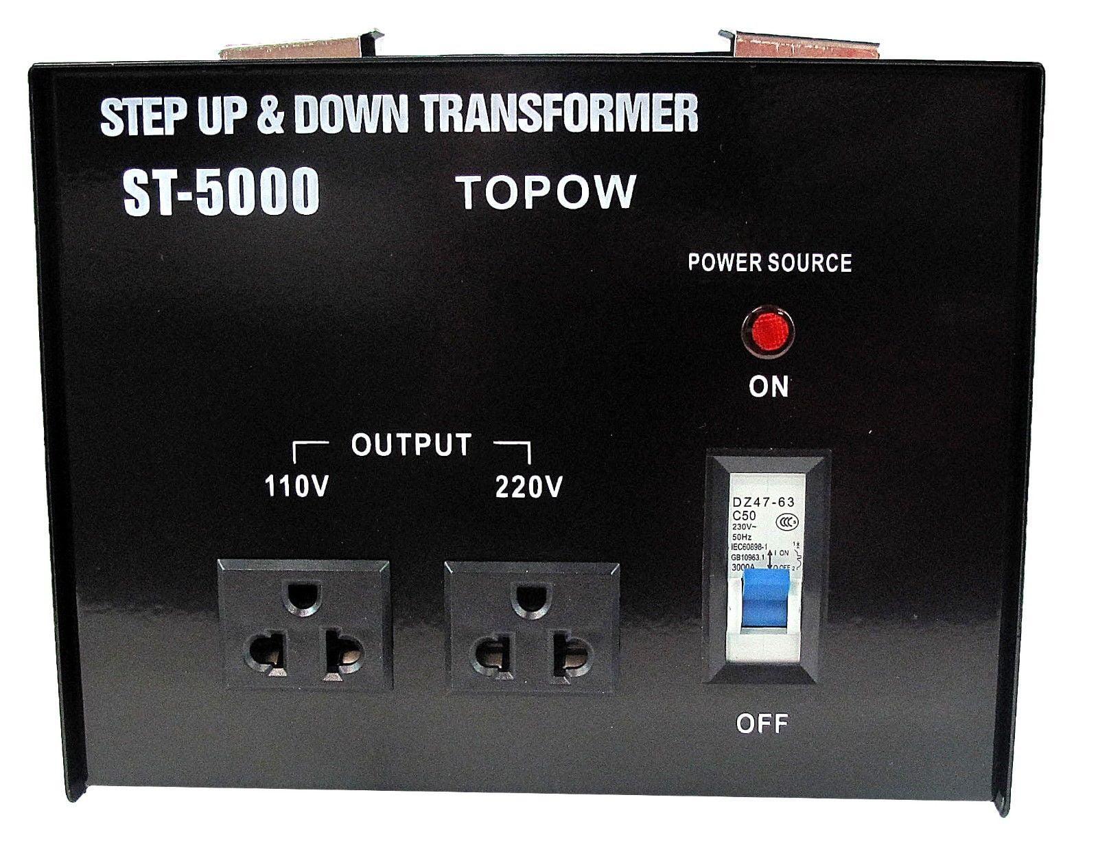 5000W Watt 110 to 220 Electrical Power Voltage Converter Transformer 220 to  110