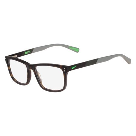 Nike NIKE 7238 Eyeglasses 200 Matte Tortoise-Green Strike Nike NIKE 7238 Eyeglasses 200 Matte Tortoise-Green Strike