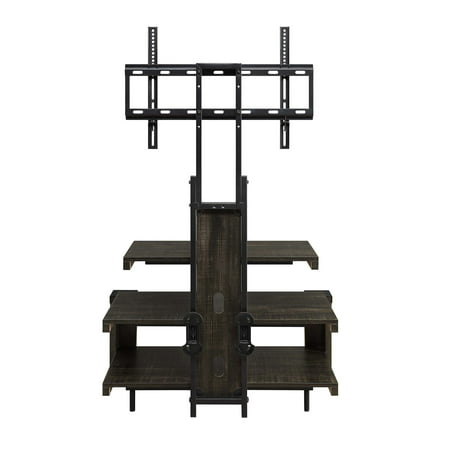 Whalen 3 Shelf Television Stand With Floater Mount For Tvs Up To 55