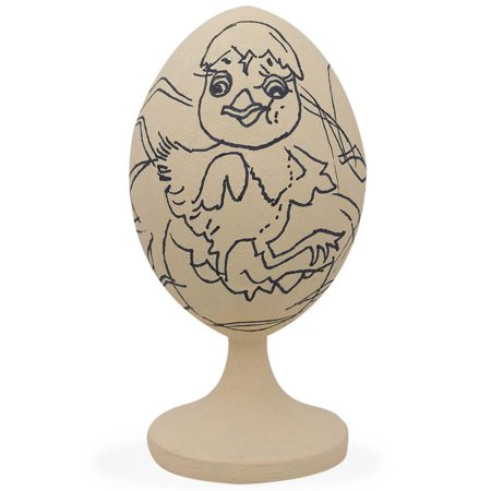 Easter Chick Unfinished Wooden Egg Figurine