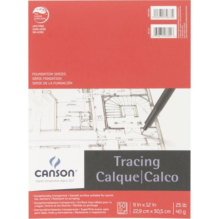 Canson Tracing Paper Pad, 50 sheets
