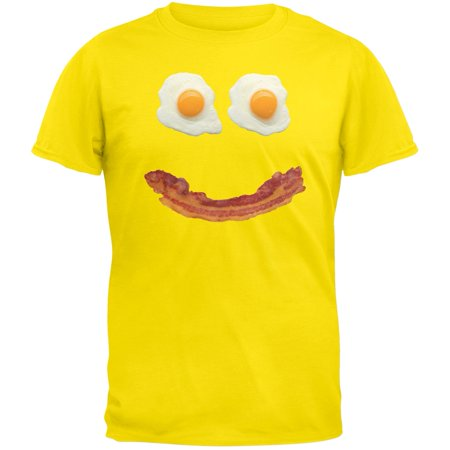 Mr. Happy Smiley Face Bacon And Eggs Yellow Adult