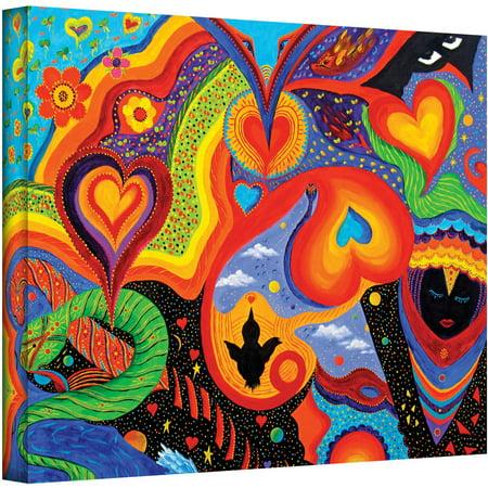 Artwall Marina Petro  Hearts  Gallery Wrapped Canvas