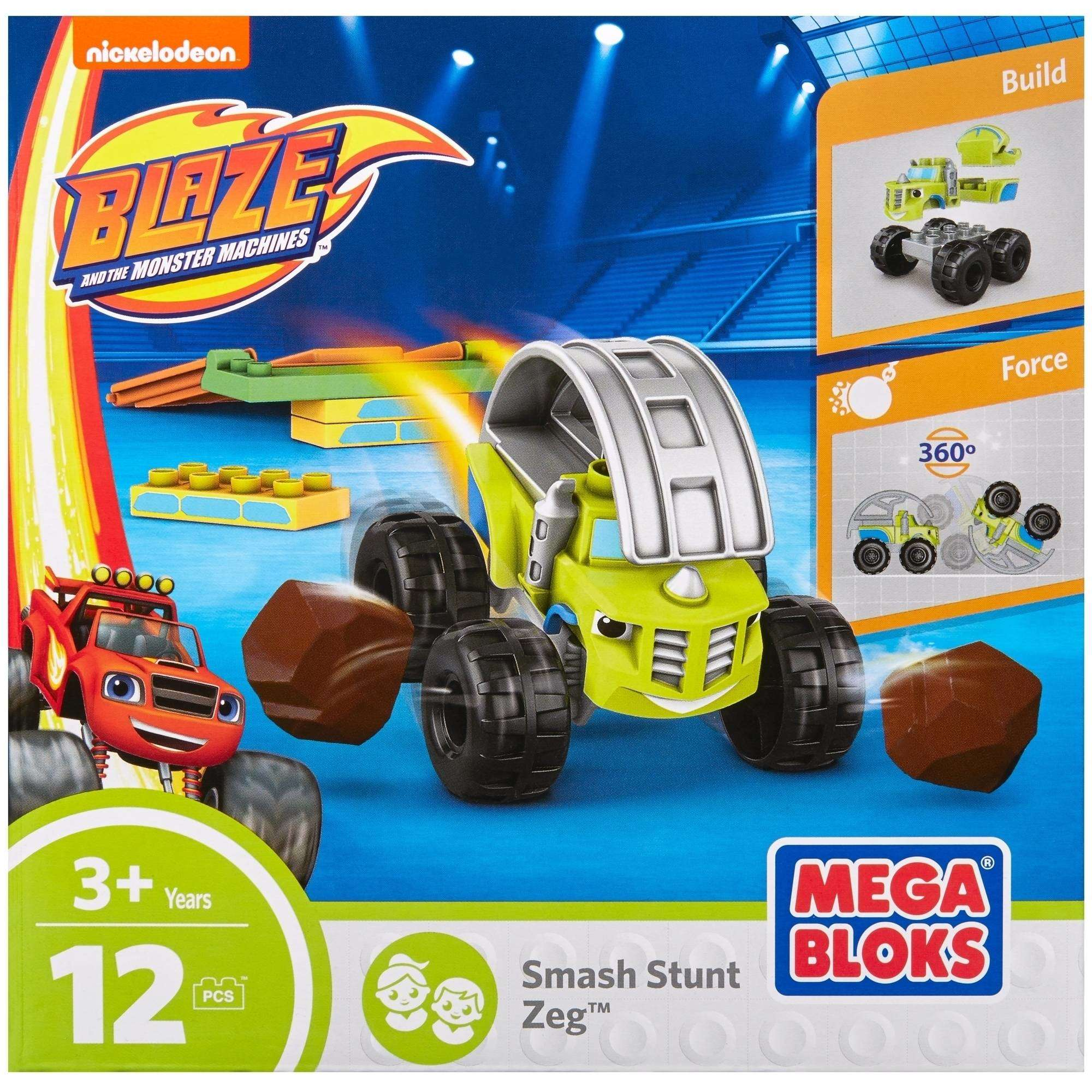 Mega Bloks Nickelodeon Blaze and the Monster Machines Smash Stunt Zeg by Mattel