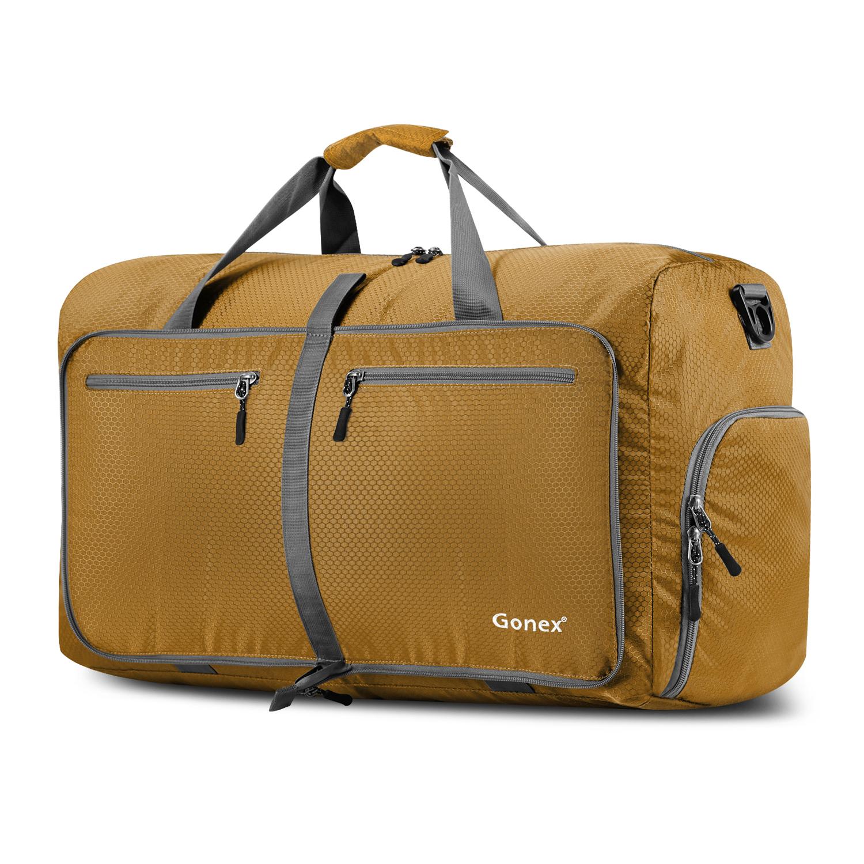 Gonex 60L Foldable Travel Duffel Bag Water & Tear Resistant by Gonex