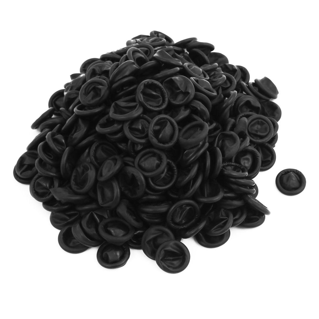 303 Pcs Anti Static Rubber Latex Finger Cots Disposable Black