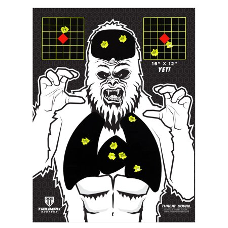 "Visual Vital Yeti Splatter Target | 10-Pack | 16"" x 12"" |"