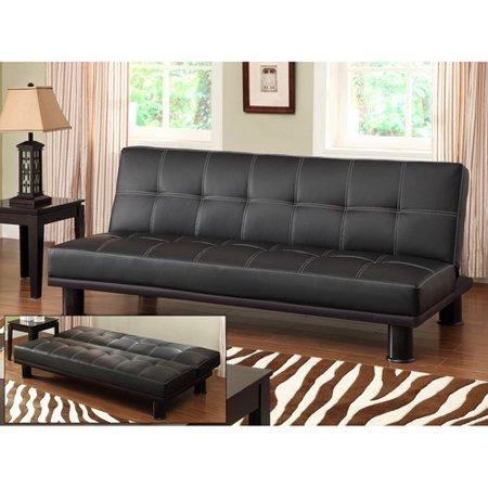 Primo International Phyllo Studio Convertible Futon Sofa Bed Black