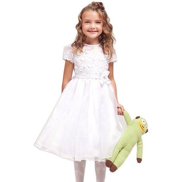Dempsey Marie Lace Overlay Communion Flower Girl Pageant Dress