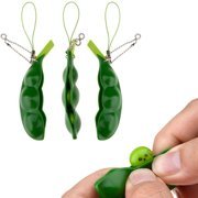 Squeeze Bean Stress Relief Fidget Bean Squishies Toys Keychain Improve Focus Toy