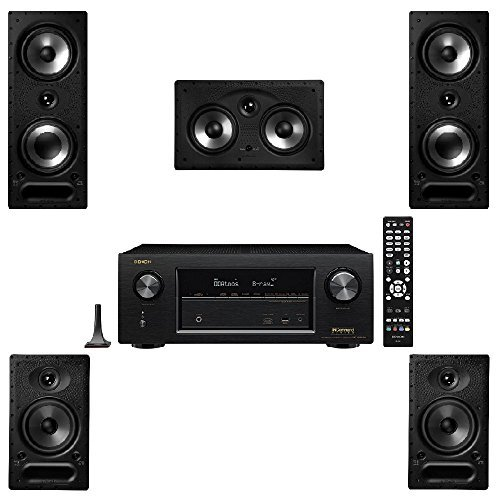 Polk Audio 265RT 5 Channel Speaker Package with 65RT and Denon AVRX2300W AV Receiver by Polk Audio