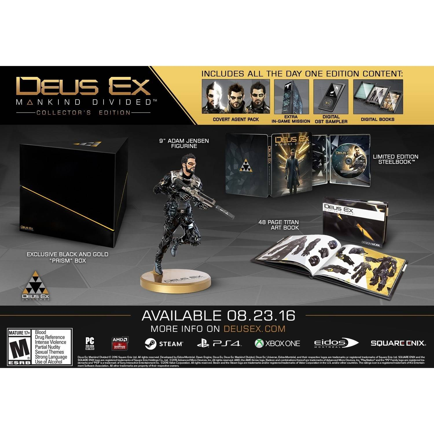 Deus Ex: Mankind Collector's Edition (Xbox One) Square Enix, 662248916439