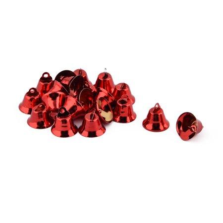 Festival Christmas Pendant Wholesale Decorative  Jingle Bell Red 20 Pcs ()