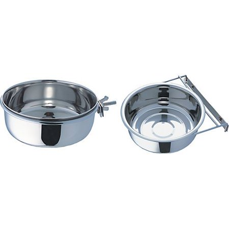 - Indipets Stainless Steel Clamp-On Coop Cup 5 OZ