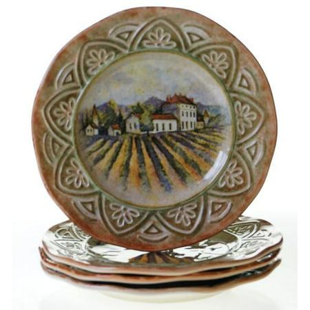 Certified International Sanctuary Wine 11.25 Dinner Plate (Set of 4)