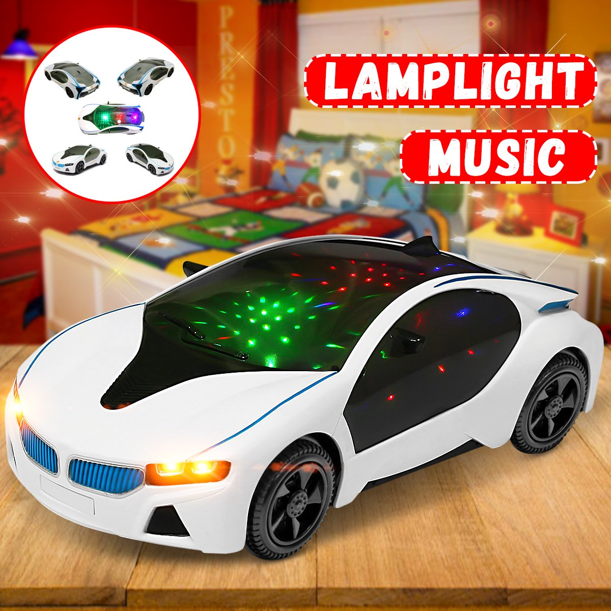 Led Light Car Toys Electronics Flashing