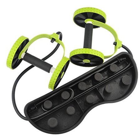 Double AB Roller Wheel Abdominal Exercises Equipment Waist Slimming Trainer For Home Use