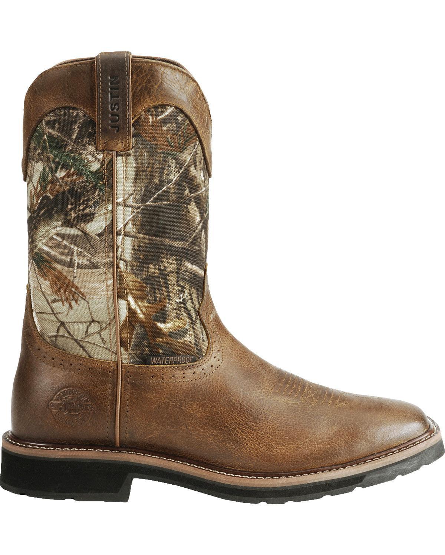 524d79685156b JOW - Jow Men's Justin Stampede Camo Waterproof Pull-On Work Boot - Wk4676  - Walmart.com