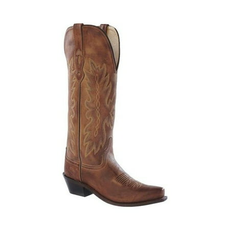 1f1b78496c2 TS1541 Women Pointed Toe Leather Tan Western Boot