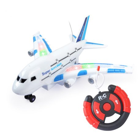 Electric R C Airplanes - Remote Control Airplane A380 Smart Electric Airbus with Flashing Lights Style:None