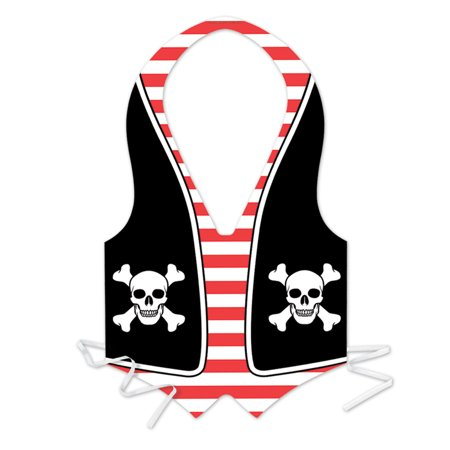 Plastic Pirate Vest (Pack of 48) - image 1 of 1