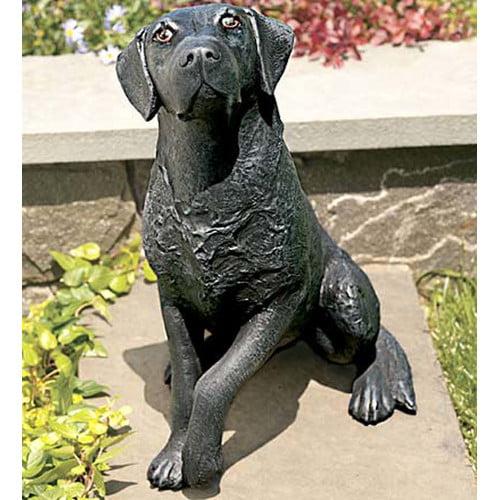 Ladybug Garden Decor Labrador Statue by Ladybug Garden Decor
