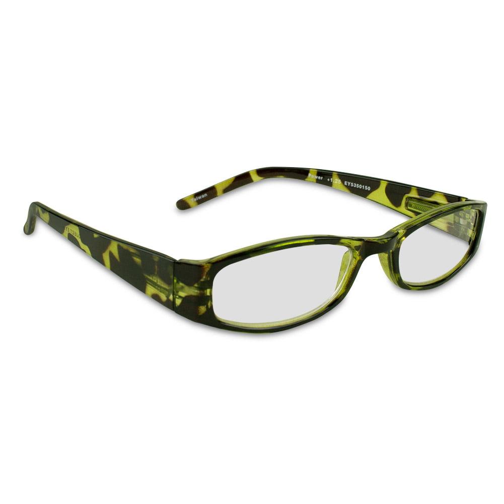 Project Eyewear Green Tortoise Reading Glasses, 1.25