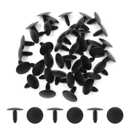 40Pcs Rivet fixation Clip plastique noir Trou 7.5mmx7mm pare-chocs voiture - image 1 de 2