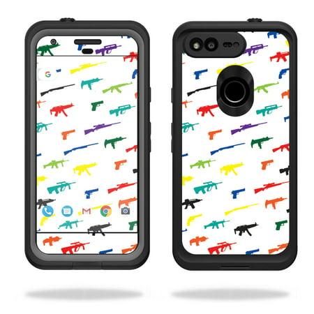 "MightySkins Protective Vinyl Skin Decal for Lifeproof fre Google Pixel XL 5.5"" Case  wrap cover sticker skins Fun (Pixel Gun Best Premium Weapon)"