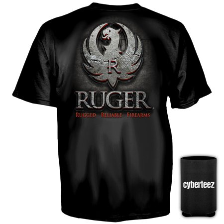 (Sturm Ruger & Co Metal Eagle Logo American Firearms T-Shirt + Coolie (S))