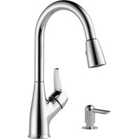 Deals on Peerless P88121LF Chrome Pulldown Kitchen Faucet