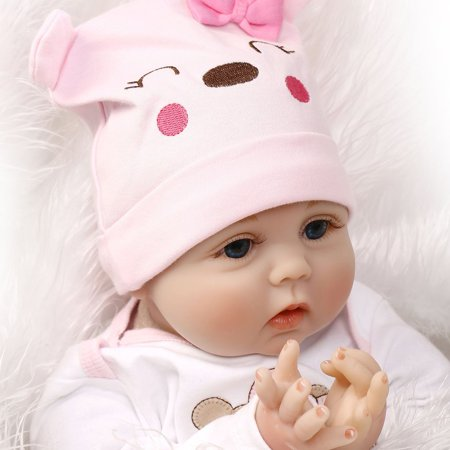 Cute Lovely Girls Realistic Silicone Reborn Newborn Baby Doll Play House Toy - image 8 de 10