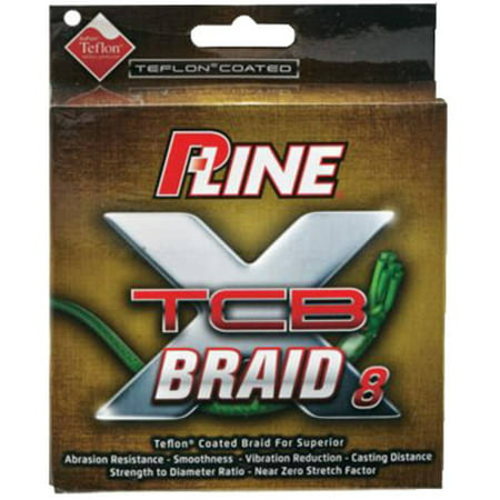 P-Line 300 yds Green TCB Braid 8 (Best Knot For Joining Braid To Fluorocarbon)