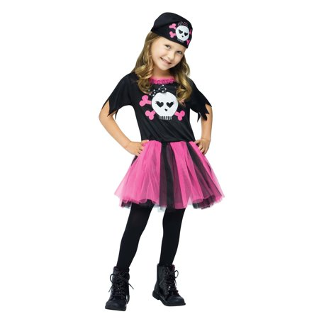 Fun World High Sea Sweetie Pirate Halloween 2pc Girl Costume, Pink Black](Halloween Appetizers Family Fun)