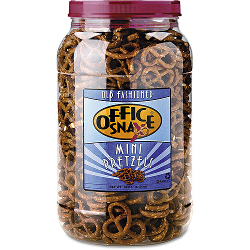 Office Snax Old Fashioned Mini Pretzel Twists, 40 oz