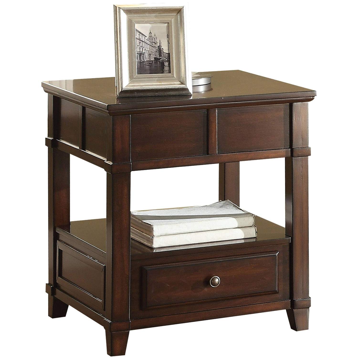 ACME Orville End Table, Walnut