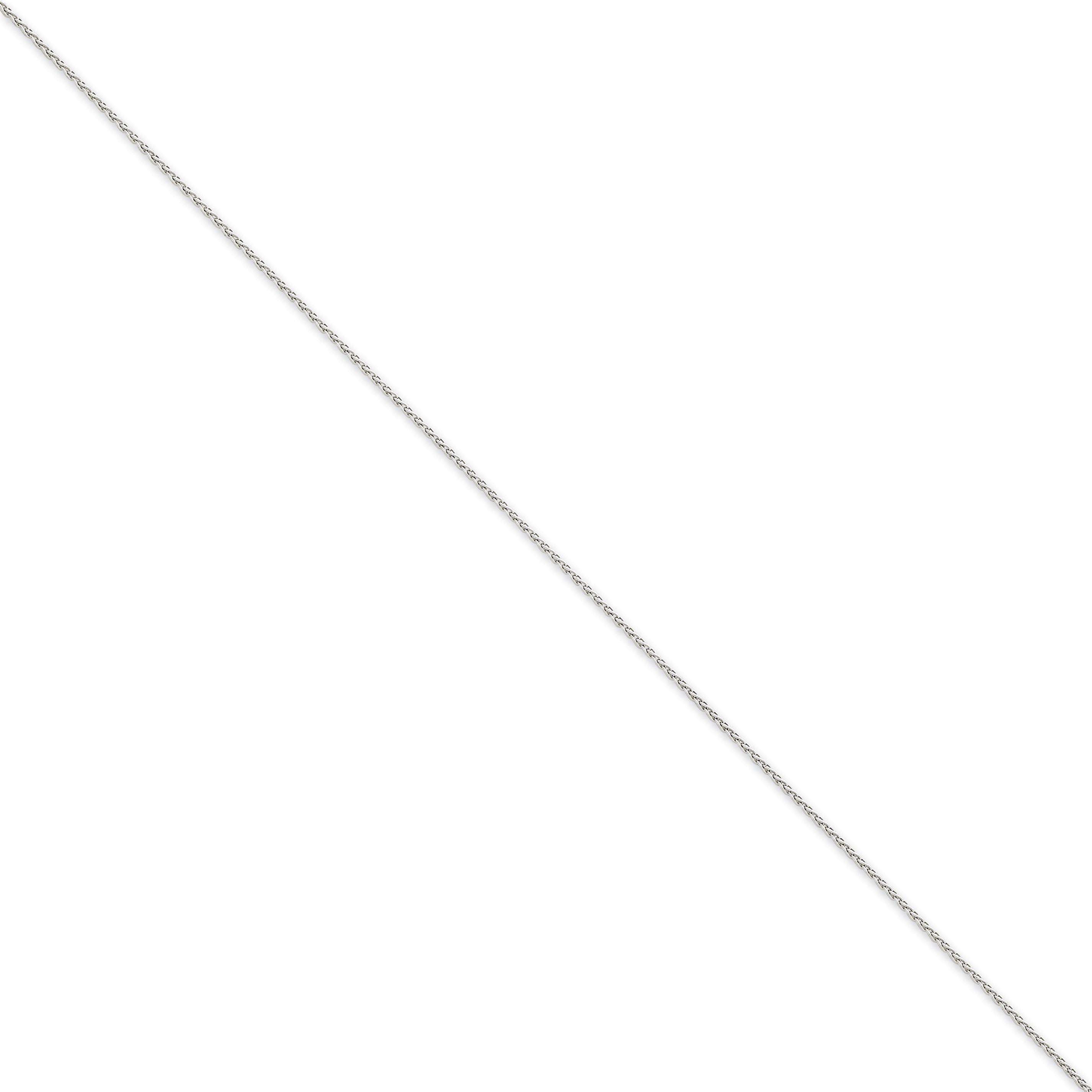 14K White Gold 1.2mm Parisian Wheat Chain - image 2 of 2
