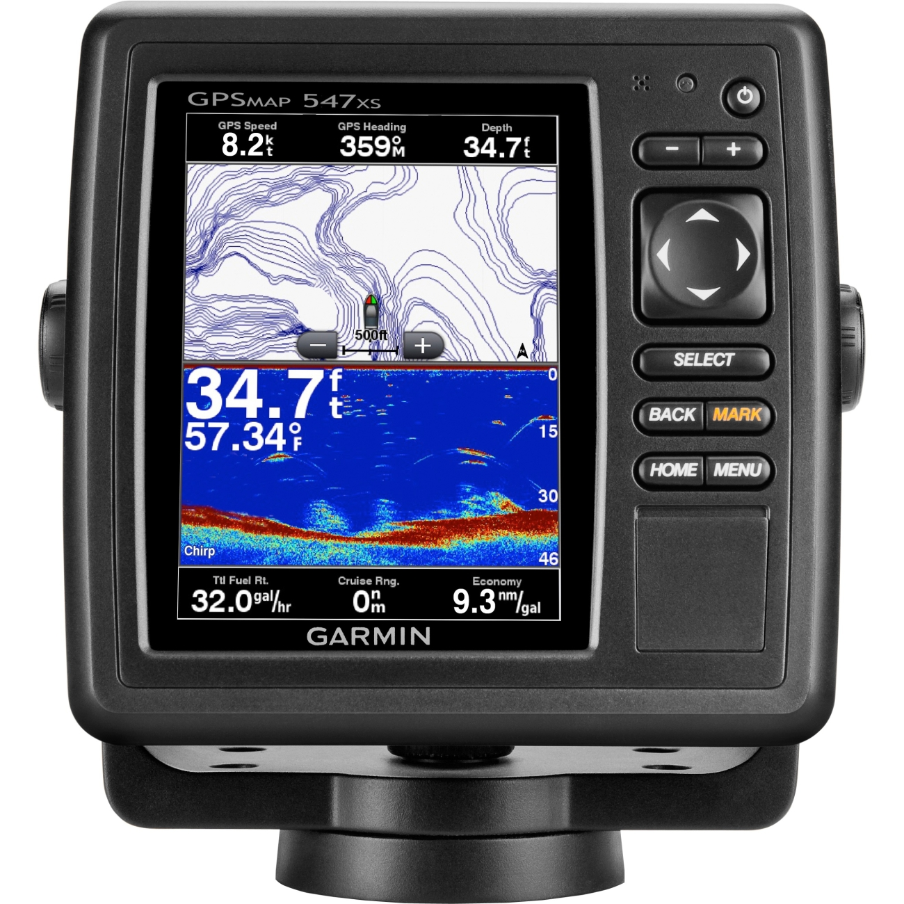 garmin gpsmap 547xs 010-01093-01 gps chartplotter/sounder combo, Fish Finder