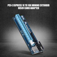 Ejoyous PCI-E Express 1x to 16x 4PIN Mining Extender Riser Card Adapter with USB 3.0 Cable, usb3.0 pci express , pci-e 1x to 16x adapter