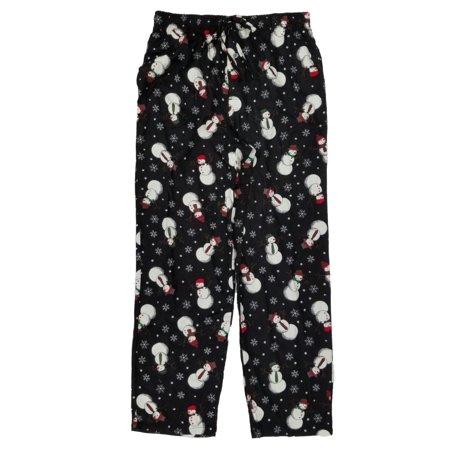 stafford mens christmas snowman black flannel lounge sleep pants pajama bottoms walmartcom