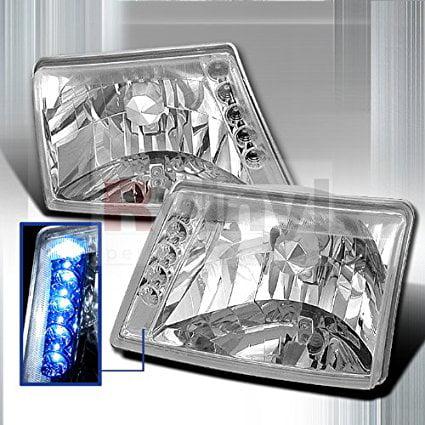 Spec-D Tuning Ford Ranger 1998 1999 2000 2001 Euro Headlights - Chrome (Ford Ranger Euro Headlights)