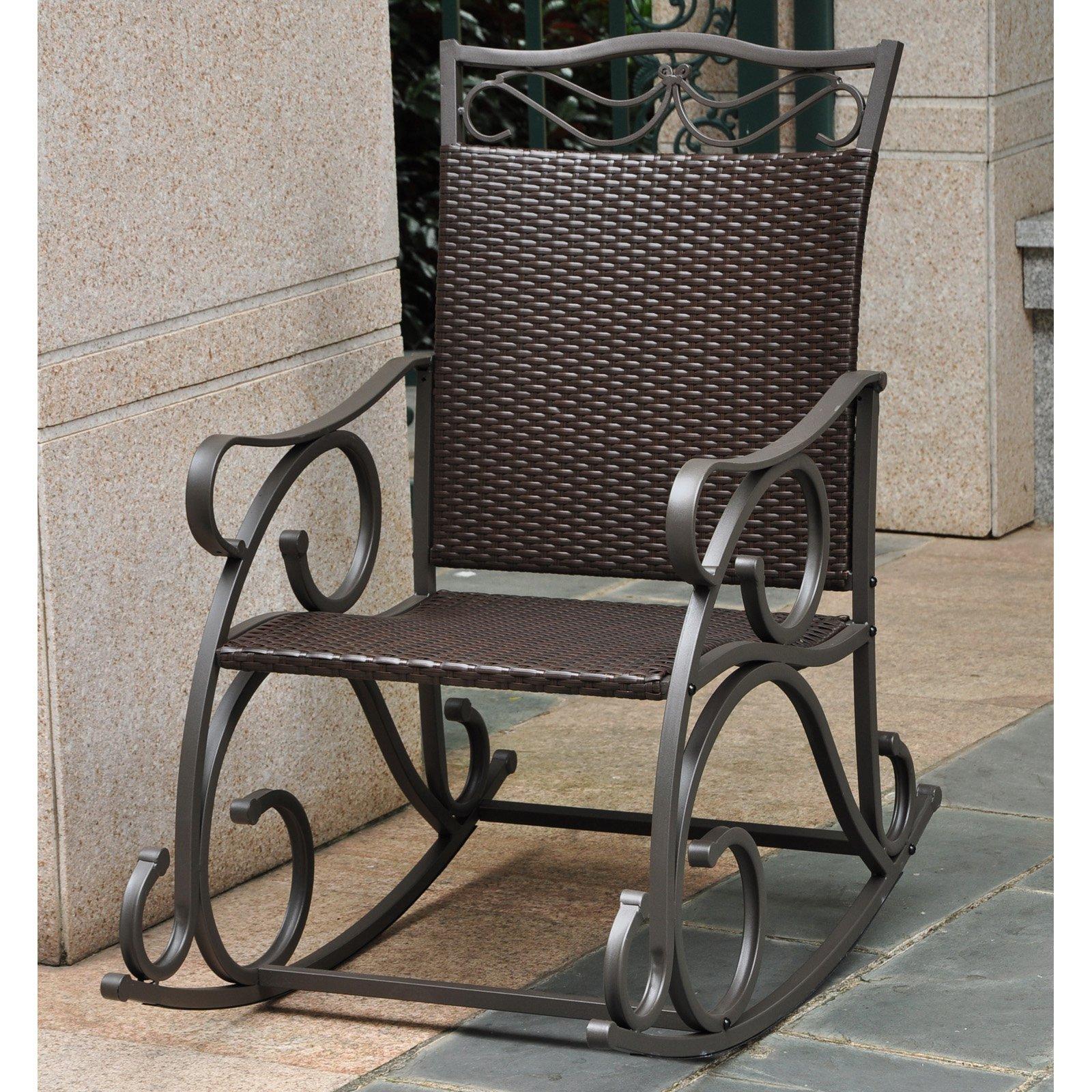 International Caravan Lisbon Resin Wicker Patio Rocking Chair