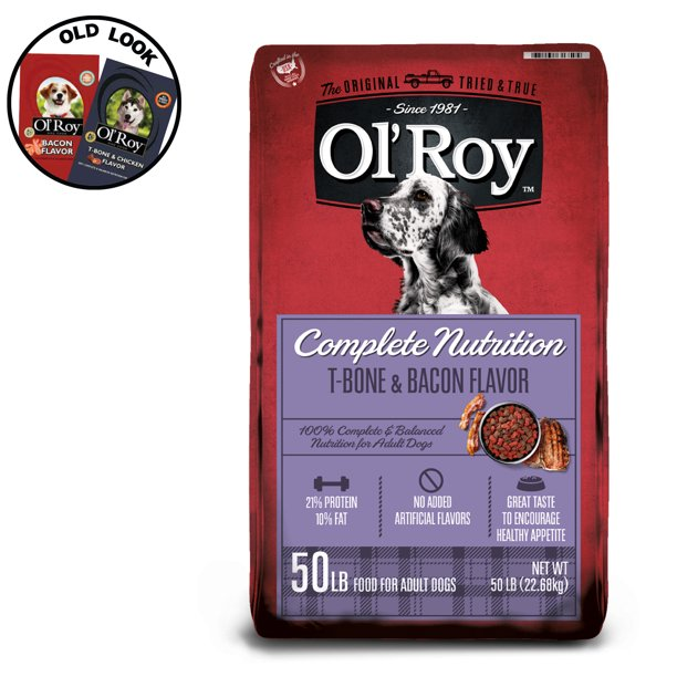 Ol' Roy Complete Nutrition T-Bone & Bacon Flavor Dry Dog Food, 50 lb