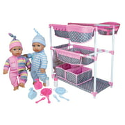 Lissi Baby Care Center for Twins w/ 2 Toy Baby Dolls & Feeding Accessories