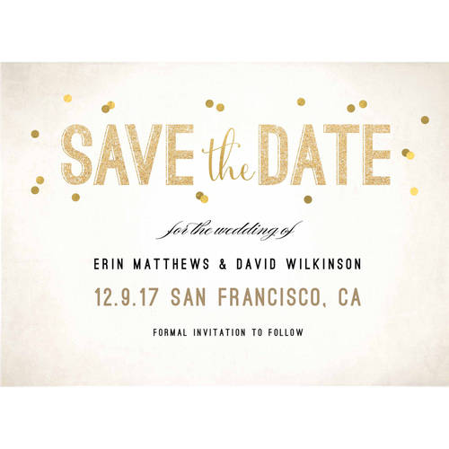 Sparkling Standard Save the Date