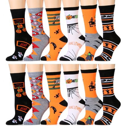 12 Pairs excell Women's Halloween Novelty Cute Socks - Halloween Socks