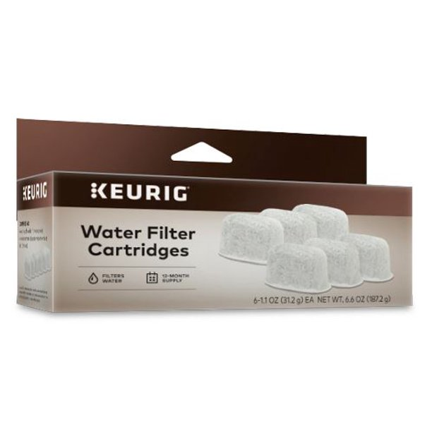Keurig® 6-Pack Water Filter Refill Cartridges, 6 count, For use with Keurig 2.0 and 1.0/Classic K-Cup Pod Coffee Makers