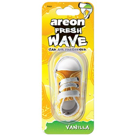 areon fresh wave yellow sneaker hanging car air freshener. Black Bedroom Furniture Sets. Home Design Ideas
