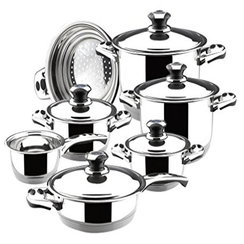 Magefesa Ecotherm 12 pcs. Stainless Steel Cookware Set